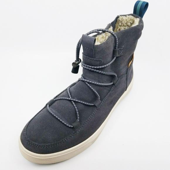61f3bd6ca1d Toms Mens Travel Lite Alpine Grey Suede Boots Sz 9